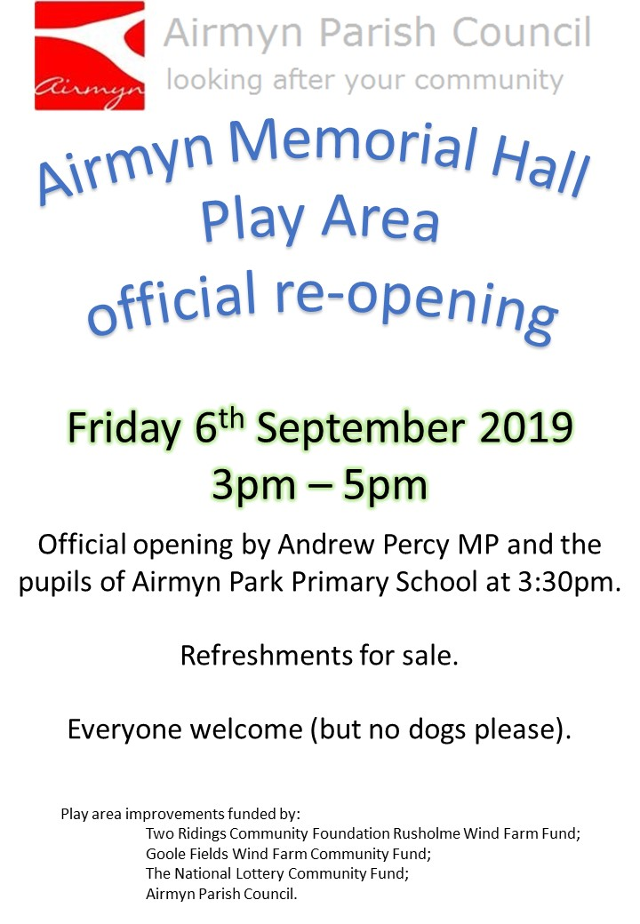 Play Area opening 20190906